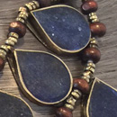 Warrior Princess necklace with blue lapis