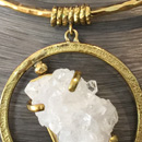 Nubian Ruler necklace - Natural crystal cluster