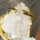 Nubian Ruler ring - Natural crystal cluster